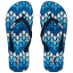 Men Others Printed - Men Flip Flop Herringbones Turtles, Navy front