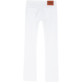 Men Others Solid - Men White 5-Pocket Jeans Regular Fit, White back