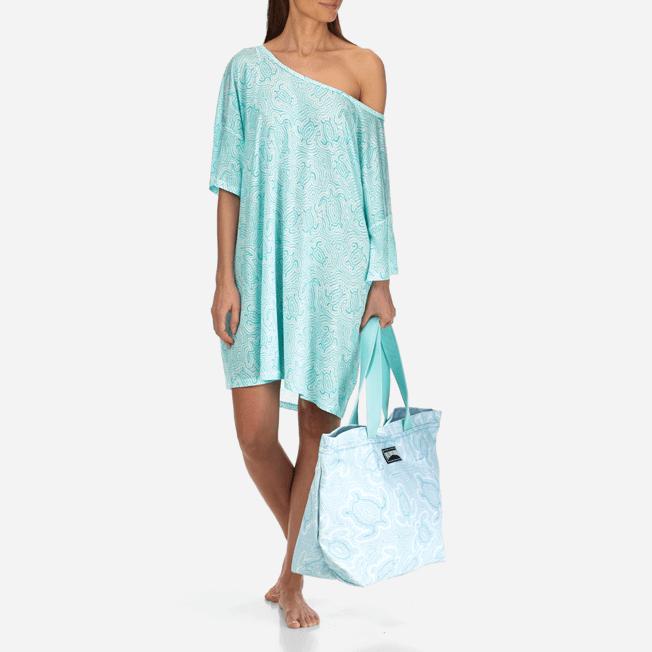 Vilebrequin - Robe T-shirt Oversize en Jersey Tencel Femme Tortues Hypnotiques - 8