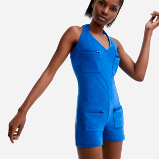 Women Others Solid - Women terry Playsuit - Vilebrequin x JCC+ - Limited Edition, Sea blue supp1