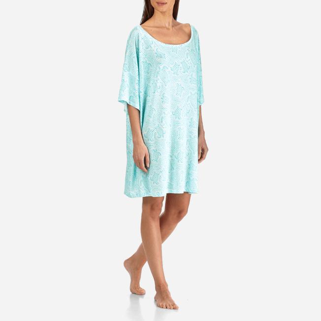 Vilebrequin - Robe T-shirt Oversize en Jersey Tencel Femme Tortues Hypnotiques - 3