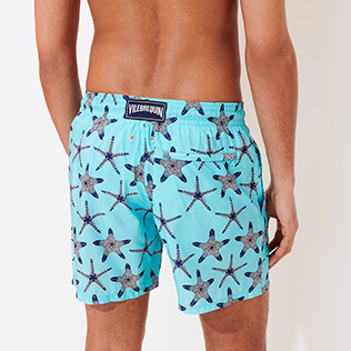 男款 Ultra-light classique 印制 - Men Swimwear Ultra-light and packable Starfish Dance, Lazulii blue supp1