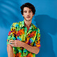 Autros Estampado - Unisex Cotton Voile Light Shirt Holi Party, Batik azul supp7