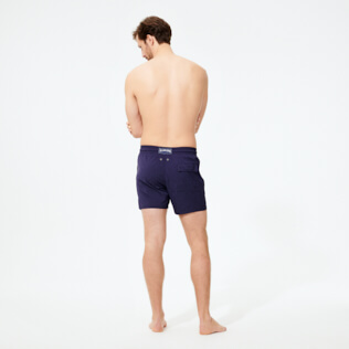 Men Stretch classic Solid - Men Stretch Swim Trunks Micro Ronde des Tortues, Sapphire backworn