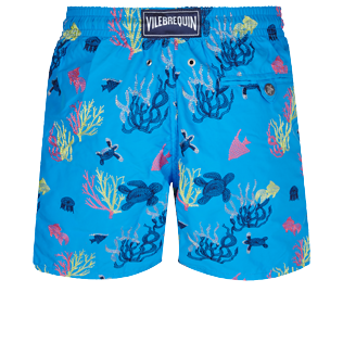 Men 017 Embroidered - Men Swim Trunks Embroidered - Limited Edition, Atoll back