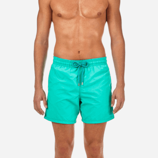 Men Classic Printed - Water-reactive Sardines à l'Huile Swim shorts, Veronese green supp1