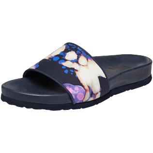 Women Others Solid - Women Beach Sandals Watercolor W's Slide, Navy back