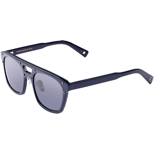 Others Solid - Unisex Sunglasses Shiny Blue Lenses, Navy back