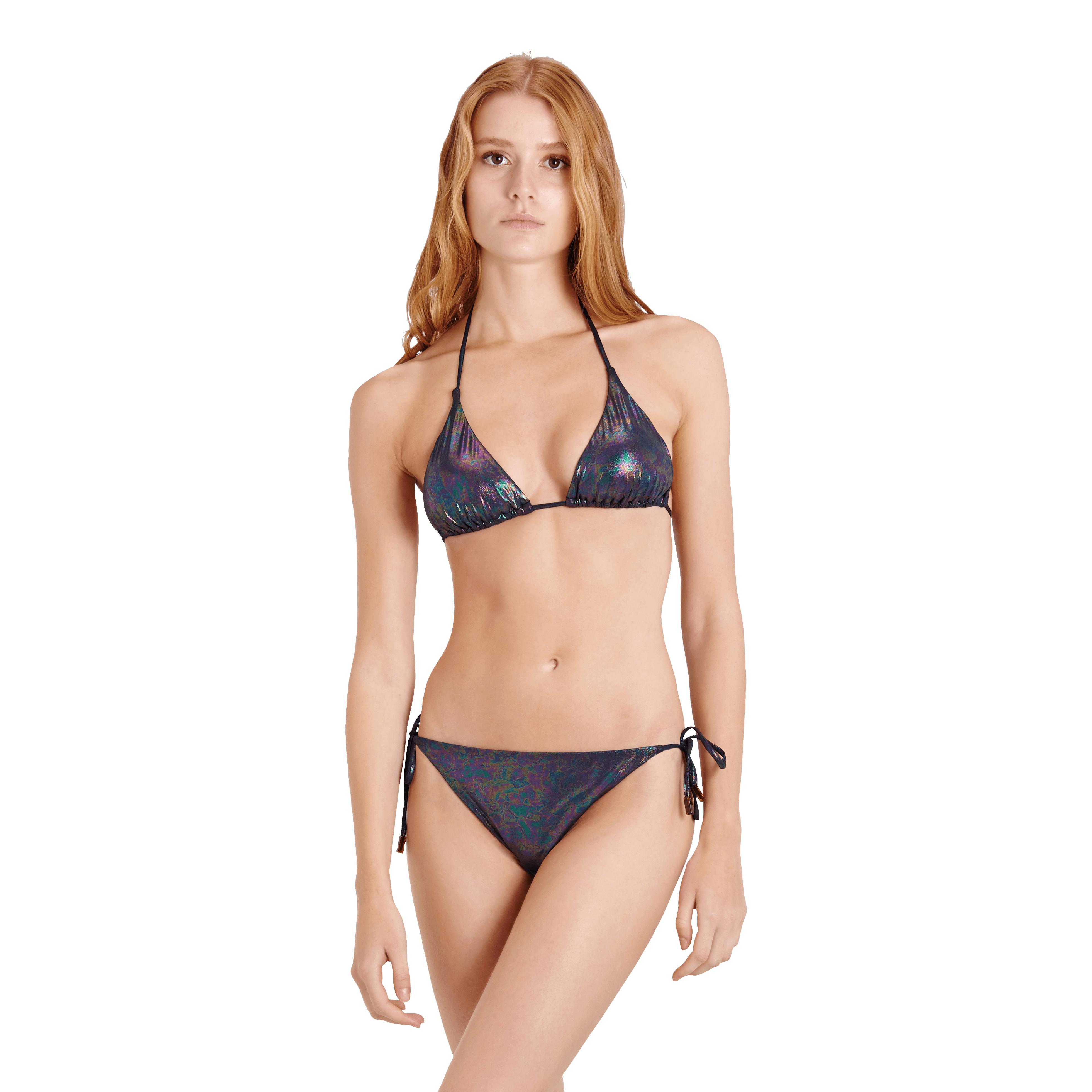Vilebrequin Women Triangle Bikini Top Moonlight In Multi