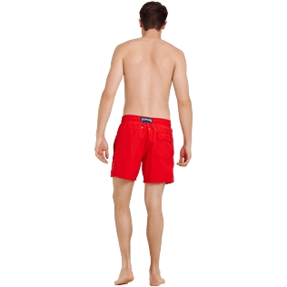 Men Classic Embroidered - Men Swimtrunks Placed embroidery Christmas Crackers, Medicis red backworn