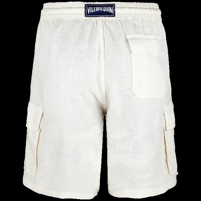 Vilebrequin - Bermuda poches cargo en Lin Homme Uni - 2