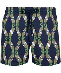 Men Stretch classic Printed - Men Stretch Swimwear Sweet Fishes, Navy front