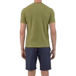 Men Tee-Shirts Solid - Solid Round neck cotton pique Tee-Shirt, Khaki supp3