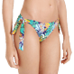 Women Classic brief Printed - Women Brief to be tied Bikini Bottom Jungle, Midnight blue supp1