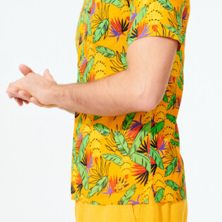 Men Others Printed - Men Bowling Shirt Cotton and Linen Go Bananas, Curry supp2