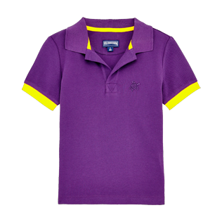 Boys Others Solid - Boys Cotton Pique Polo Shirt Solid, Reddish purple front
