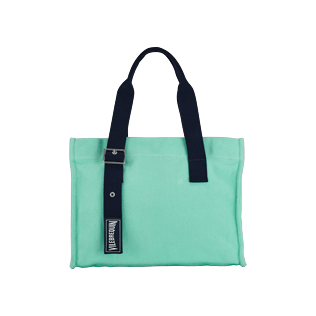 Others Solid - Small Cotton Beach Bag Solid, Mint front