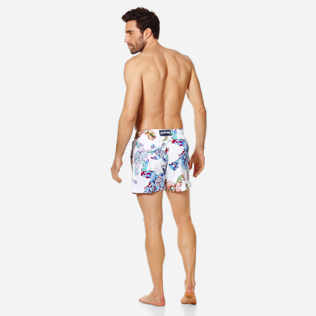 Homme CLASSIQUE STRETCH Imprimé - Maillot de Bain Homme Stretch Watercolor Turtles, Blanc backworn