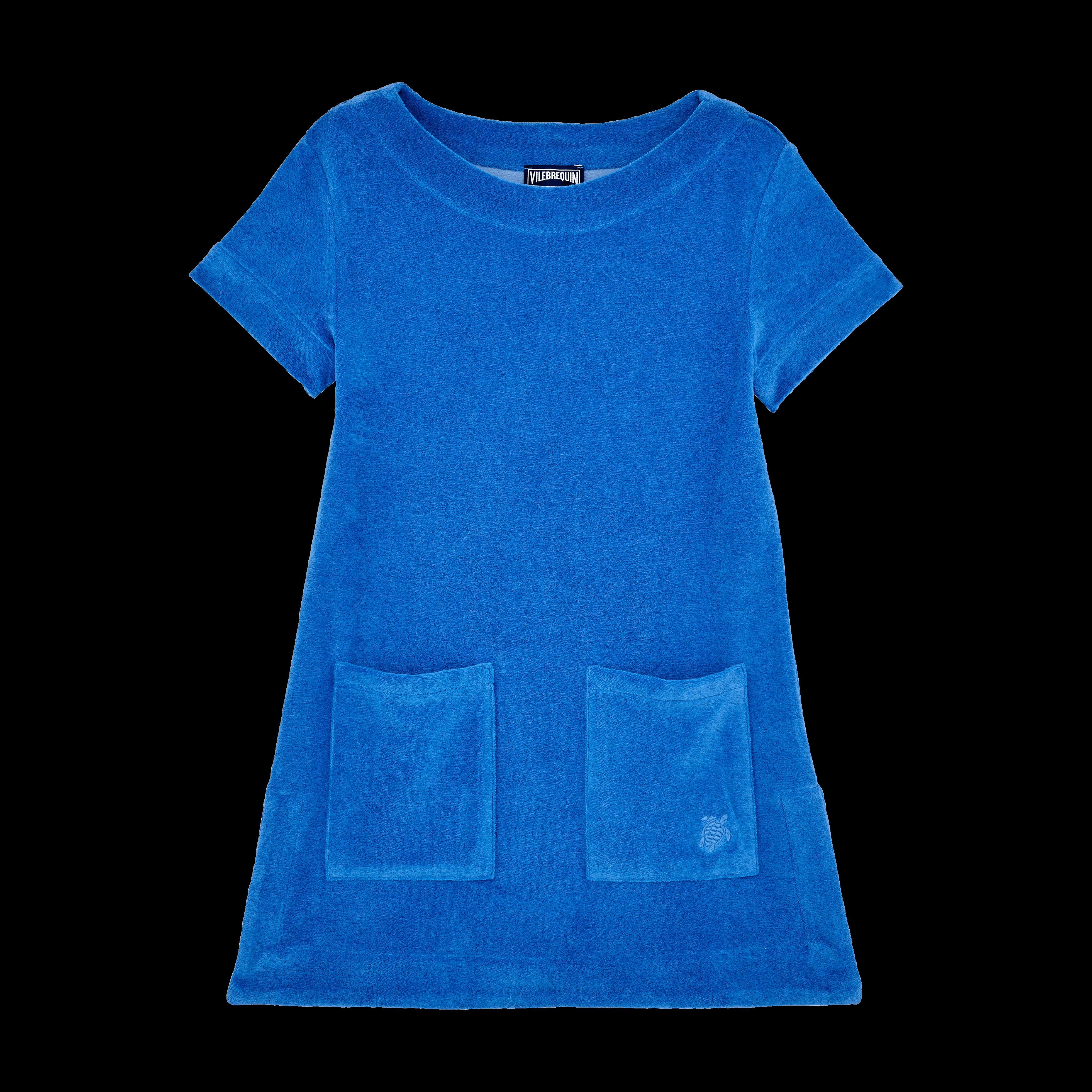 VILEBREQUIN | Girls Ready to Wear - Girls Terry Cloth Dress Solid - DRESS - GELATA - Blue - 14 - Vilebrequin | Goxip
