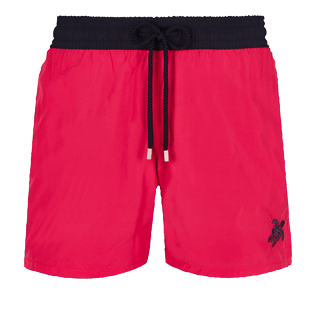 Men Ultra-light classique Solid - Men Swim Trunks Ultra-light and packable Bicolor, Gooseberry red front