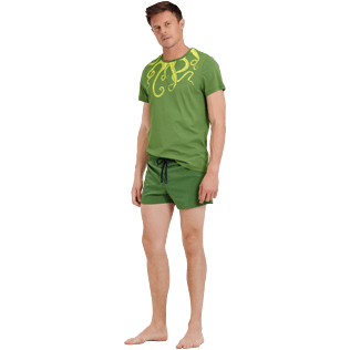 Men Short classic Solid - Men Swim Trunks Short and Fitted Stretch Solid, Cactus supp2