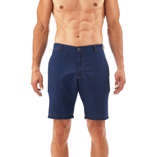 Men Shorts Solid - Indigo Straight bermuda, Indigo supp2