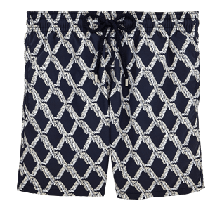 Men Classic / Moorea Graphic - Rope Swimshort, Navy / white front