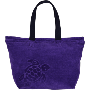 Men Others Solid - Large Terry Cloth Beach bag Solid Jacquard, Amethyst front