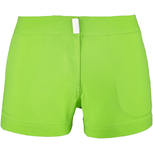 Women Shorties Solid - Women Stretch Swimwear fabric Shortie Solid, Wasabi front