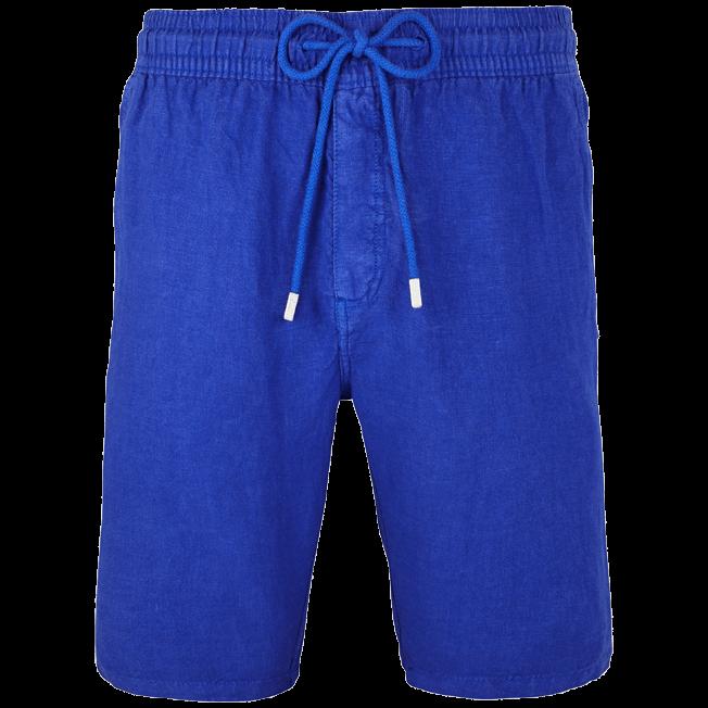 Vilebrequin - Men Italian Pockets Linen Bermuda Shorts Solid - 1