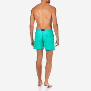 Men Classic Printed - Water-reactive Sardines à l'Huile Swim shorts, Veronese green backworn