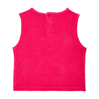 Girls Others Solid - Girls Tank Top in Terry Cloth Solid, Shocking pink back