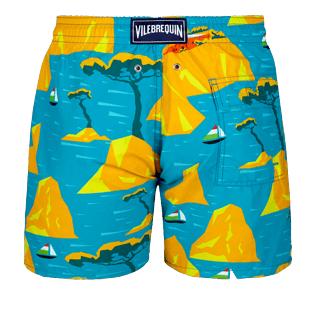 Men Classic Printed - Men swimtrunks Capri, Seychelles back