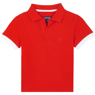 Boys Others Solid - Cotton Boys Polo Shirt Solid, Medicis red front