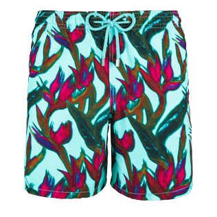 Men Classic / Moorea Printed - Men Swimtrunks Paradise 3D, Lagoon front