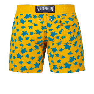 Boys Others Printed - Boys Swimwear Flocked Micro Ronde Des Tortues, Mango back