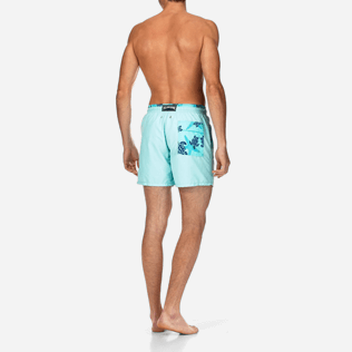 Men Classic / Moorea Solid - Starlettes et Turtles Bicolor Swim shorts, Lagoon backworn