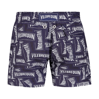 Boys Others Printed - Boys Swimwear Vilebrequin Labels, Navy back