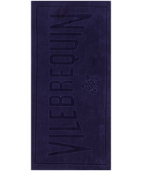 Others Solid - Beach Towel in terry cloth Solid Jacquard, Midnight blue front