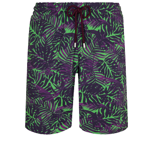 Men Long classic Printed - Men Long Stretch Swim Trunks Madrague, Grass green front