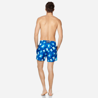Men Ultra-light classique Printed - Men Swim Trunks Ultra-Light and Packable Crystal Turtles, Atoll backworn