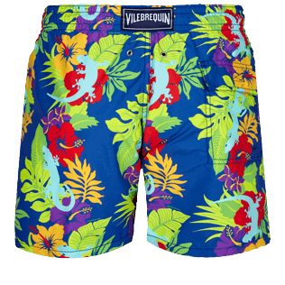 Men Classic Printed - Men Swimwear Les Geckos, Batik blue back