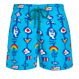 Men Classic Printed - Men Swimwear Totem - Vilebrequin x JCC+ - Limited Edition, Swimming pool front