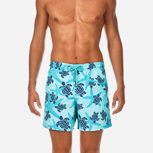 Men Classic Printed - Starlettes & Turtles Swim shorts, Lagoon supp1