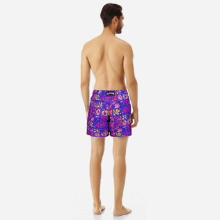 Men Classic Printed - Men swimtrunks Phuket, Sea blue backworn