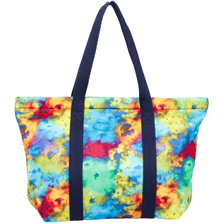 Others Printed - Unisex Neoprene Beach Bag Holi Party, Batik blue back