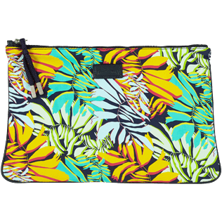 Others Printed - Zipped Beach Pouch Jungle, Midnight blue frontworn