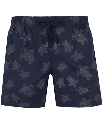 Boys Others Printed - Boys Swim Trunks Stretch Diamond Turtles, Navy front