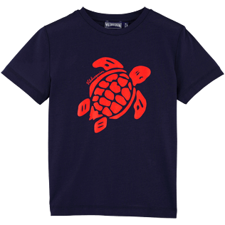 Boys Tee-Shirts Printed - Turtle Tee-shirt Boy, Navy front