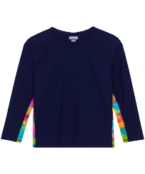 Others Printed - Kids long sleeves Rashguard Holi Party, Navy front